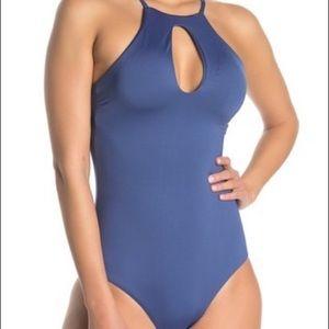 BECCA Keyhole Halter One-Piece Swimsuit